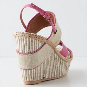 Schuler & Sons Shoes - Anthropologie Shoes Sandals Pink Felicie Wedges